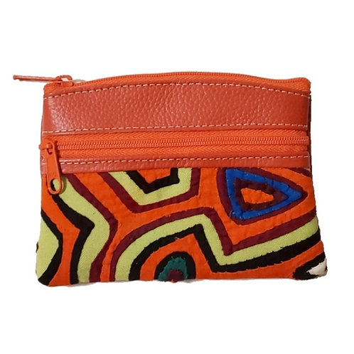 Mola Coin Purse Bright Orange  (Only one unit in stock)