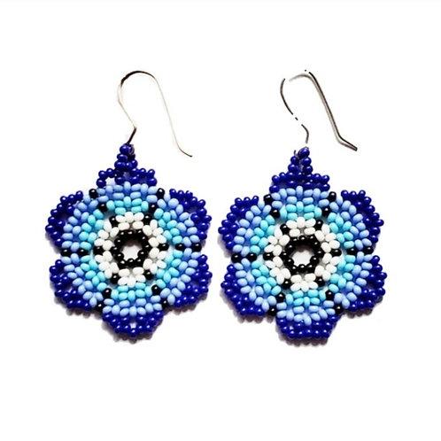 Embera Beaded Earrings Blue