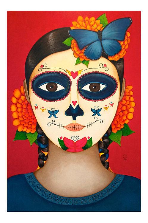 Catrina Azul Art Card