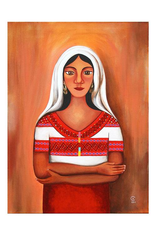 Girl with Shroud Art Print