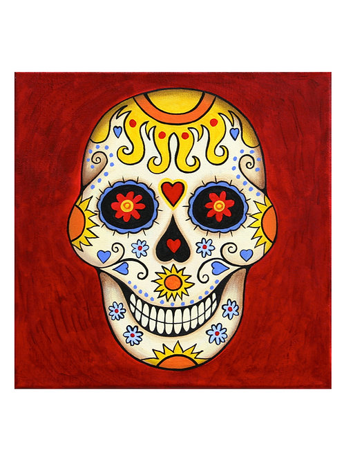 Sugar Skull Sun Art Card