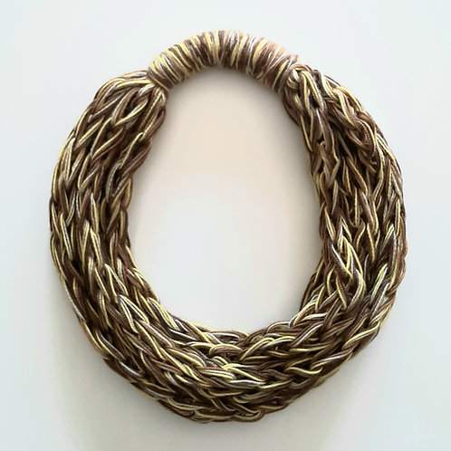 White, Dark Brown, Bright Yellow Necklace (Only one unit in stock)