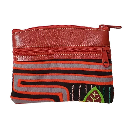 Mola Coin Purse Burgundy 2 (Only one unit in stock)
