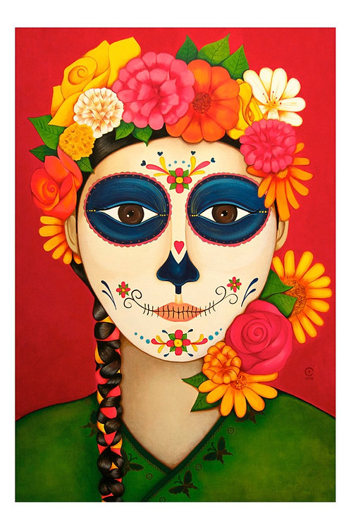 Blooming Catrina Art Card