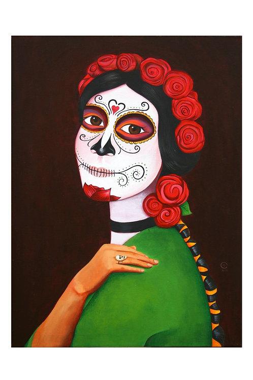 Skull Ring Catrina Art Card
