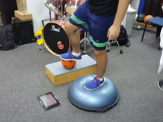 Proprioceptive work for lower limbs and balance