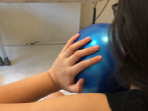 Isometric chest-press activity to strengthen arms shoulders and core muscles
