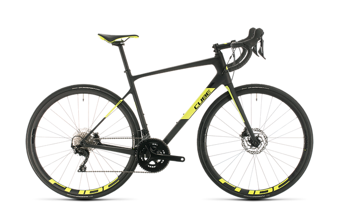 Cube Attain GTC Race  Carbon'n'Flashyellow