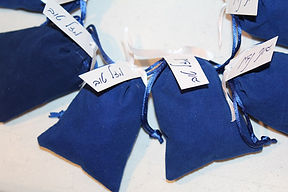 Blue Velvet Bag Pecklach