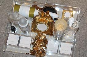 Gold Themed Bathroom Tray