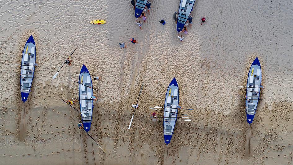 Seven Surf Boats