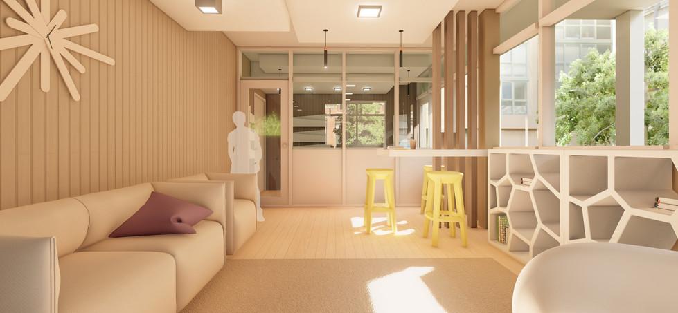 lounge edificio per appartamenti per studenti