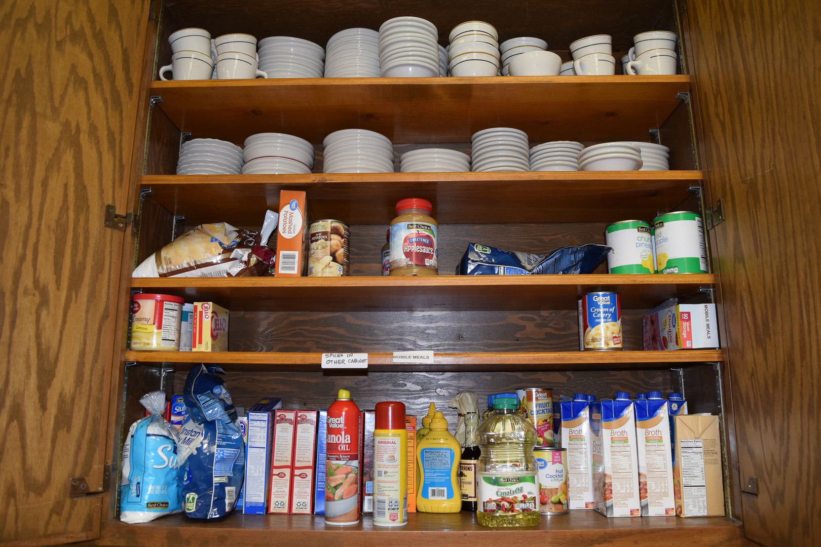 Before the remodel the food for Mobile Meals was stored below.
