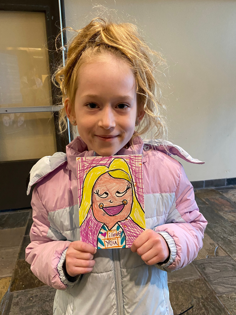 This drawing and cutie make us smile!