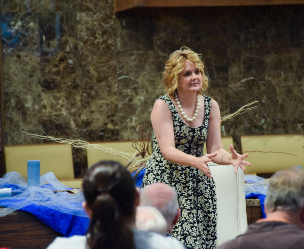 In the evening, Christy Germany Summers led the Blue Christmas Service.