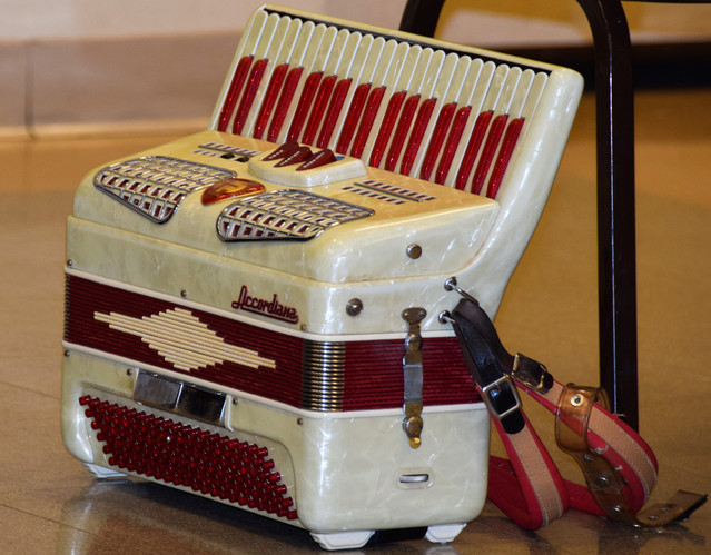 All the elements were in place ... a sparkly squeeze box.