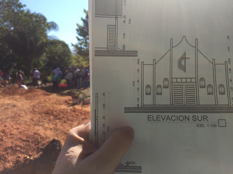 The Oklahomans are joining Bolivians to build a new church!