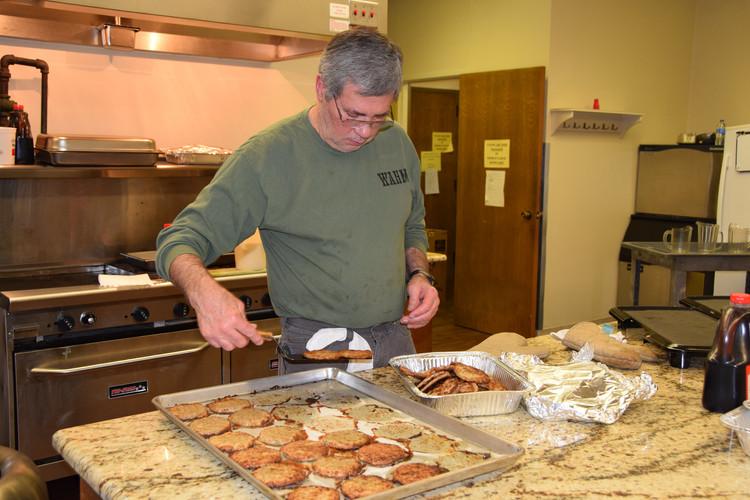 Bill's on sausage duty!