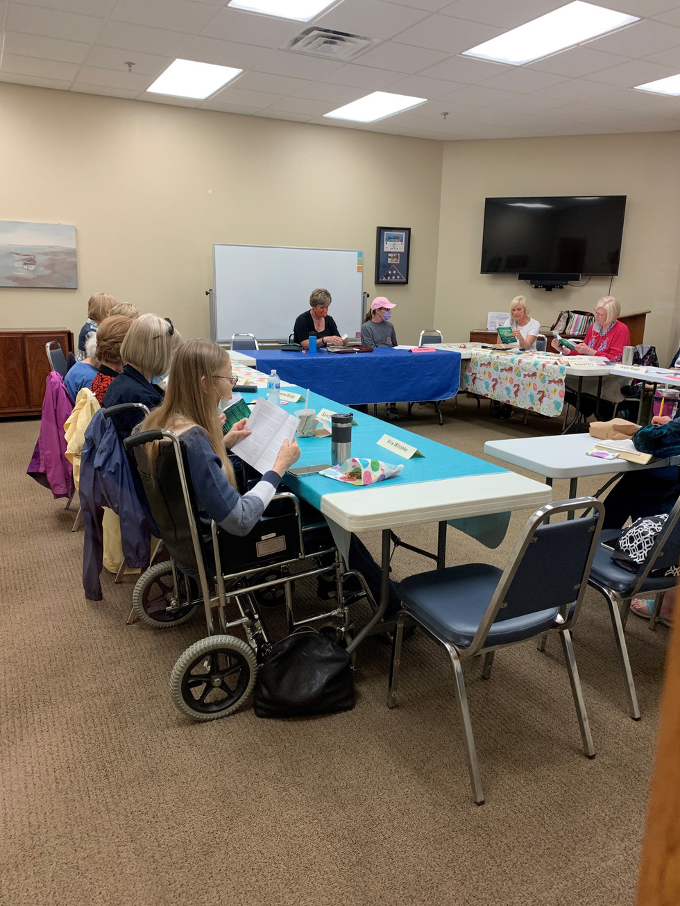 The Wednesday morning Women's Bible Study is meeting too.