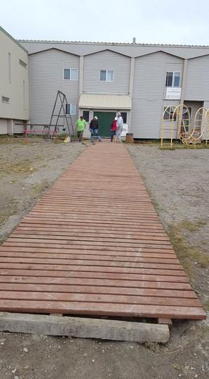 Building a boardwalk.