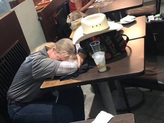 Tired little cowboys and cowgirls.
