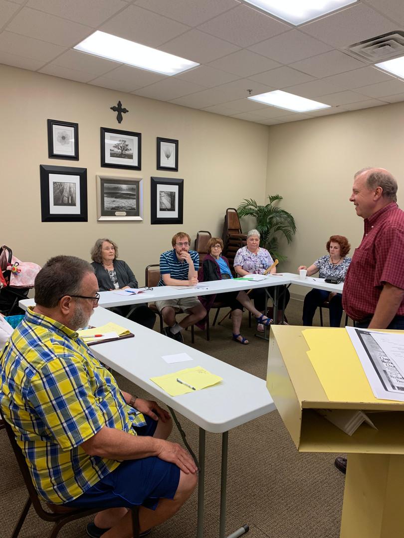 Pastor Mark leads Chapel Hill 101