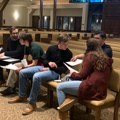 Some of our youth were readers in the evening service.