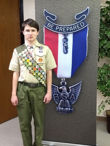 An Eagle Scout come Sunday!
