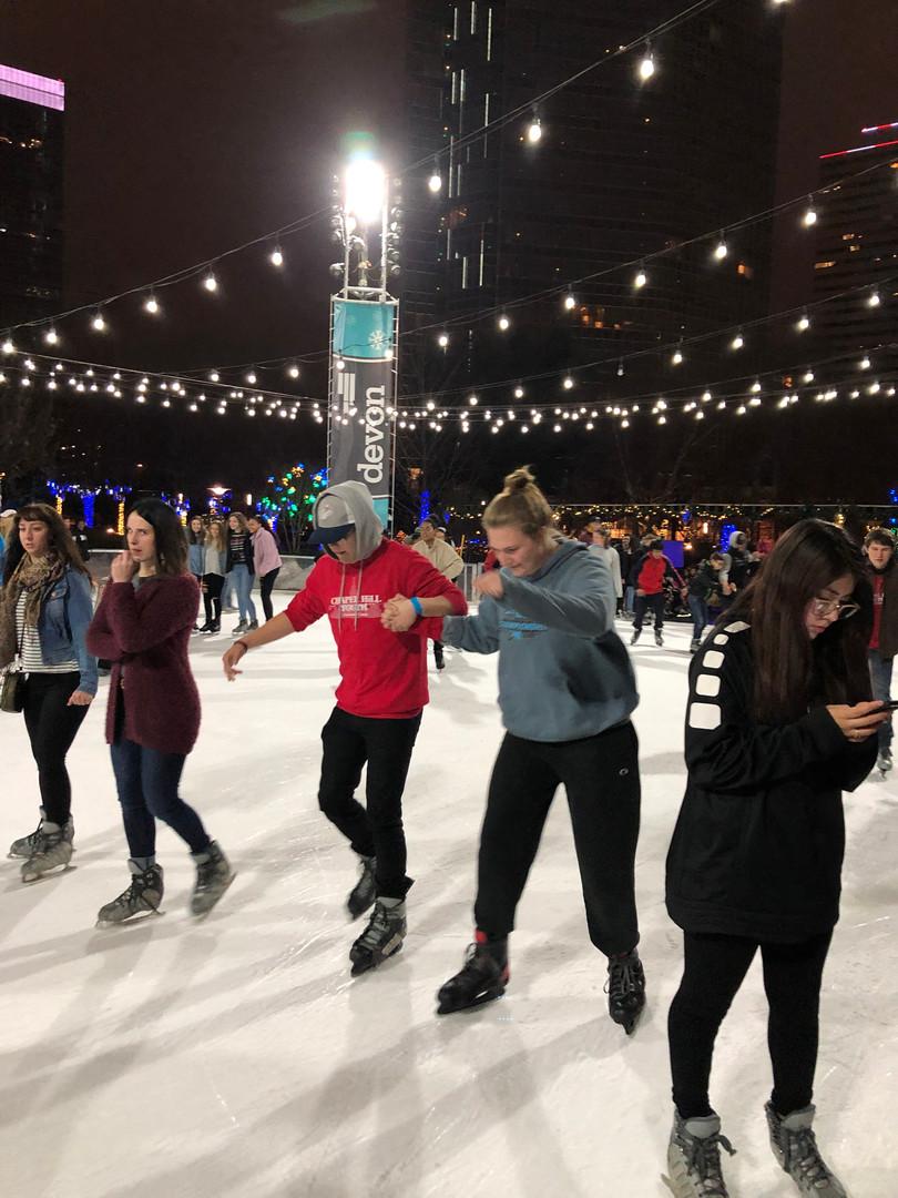 and skating! Impressive.
