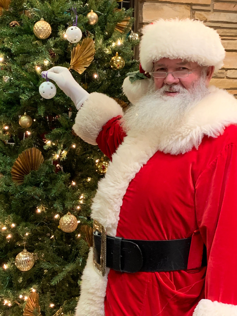Santa Clause visited us and we shared the Joy of Jesus with him.
