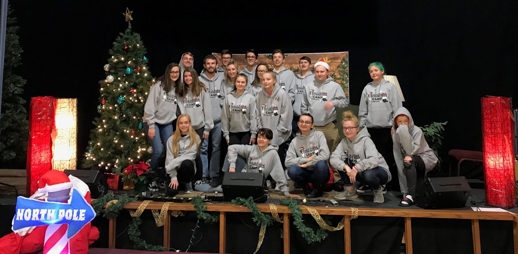 Group pic of Christmas Camp 2018!
