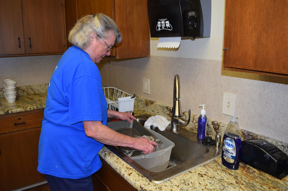 Joan Bryant is more than pleased with the new sink!!