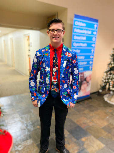 And some people go all out and have Christmas jackets AND ties!