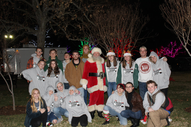 Went out to look at the lights and see Santa.