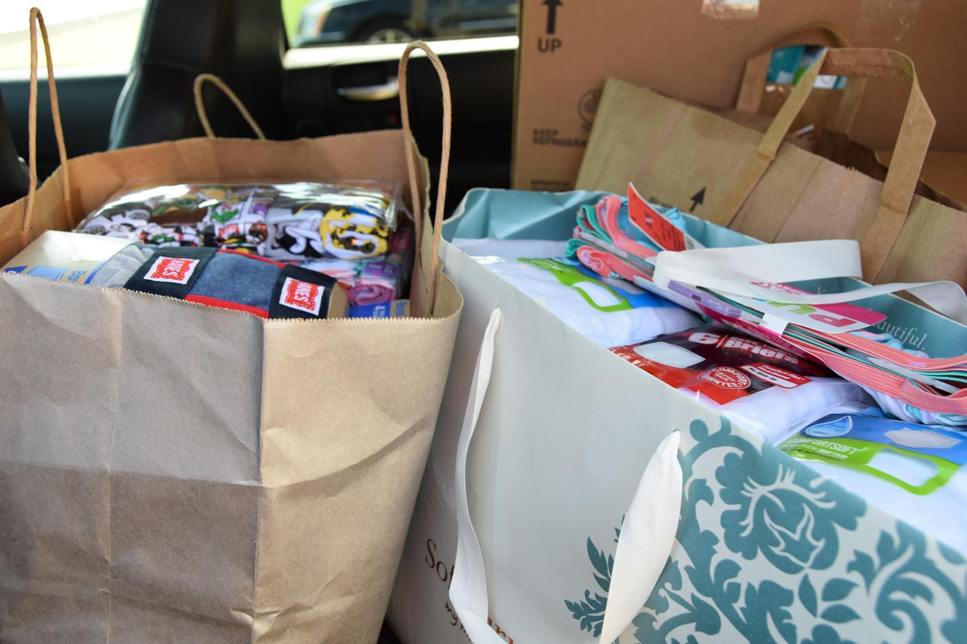 A car full of undies!! Thanks Chapel Hill.