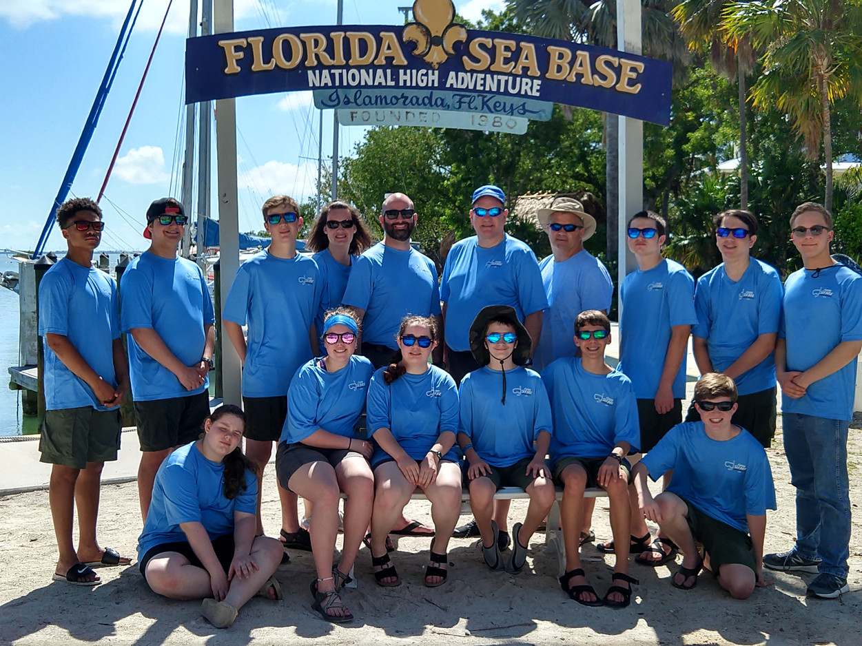 And then our Scouts were at Sea Base!