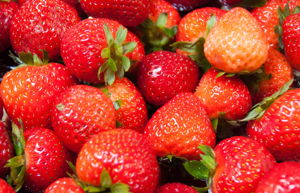Strawberries. Sweet, good for you, beautiful.