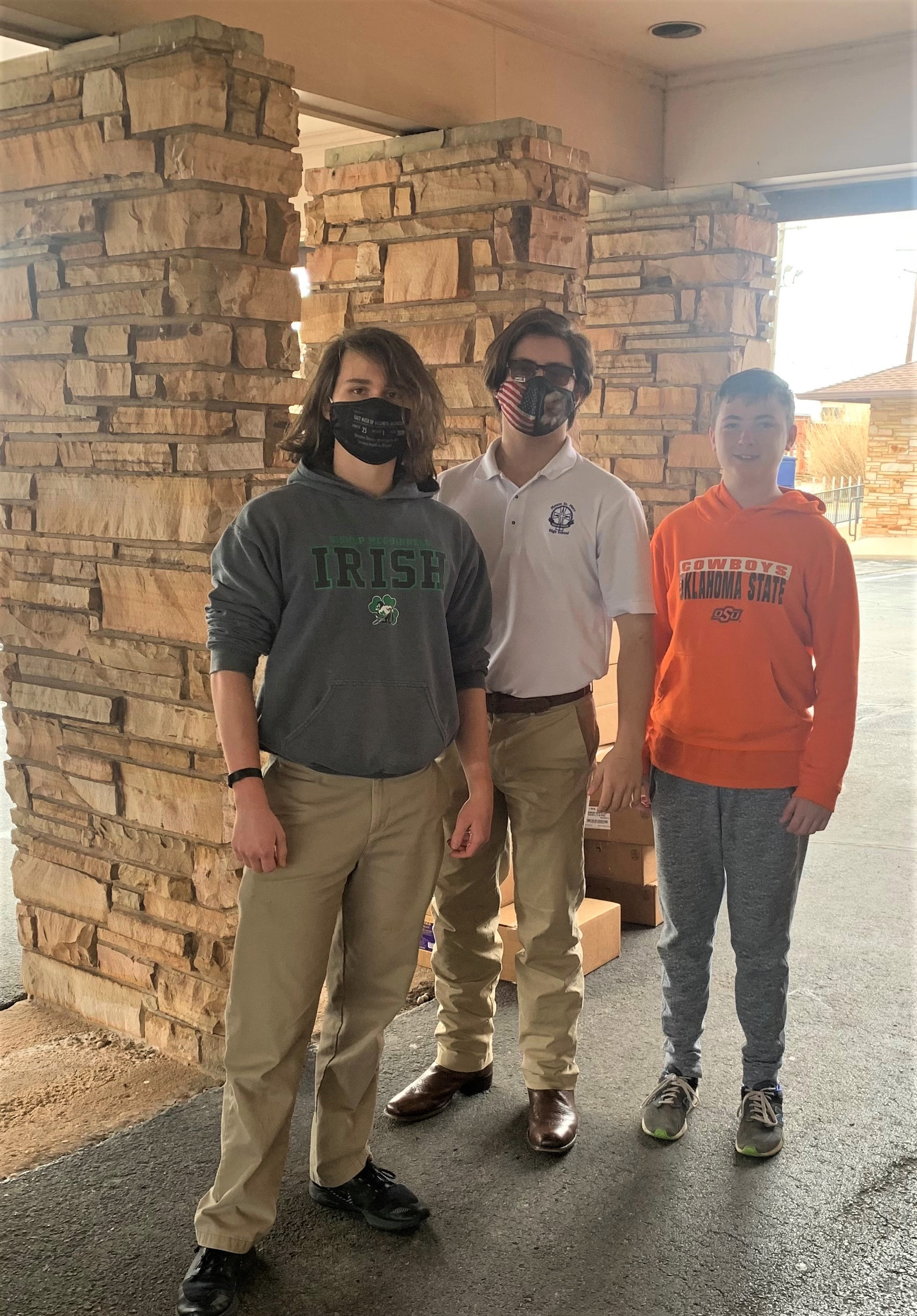 The two guys in the masks are in our Youth Group