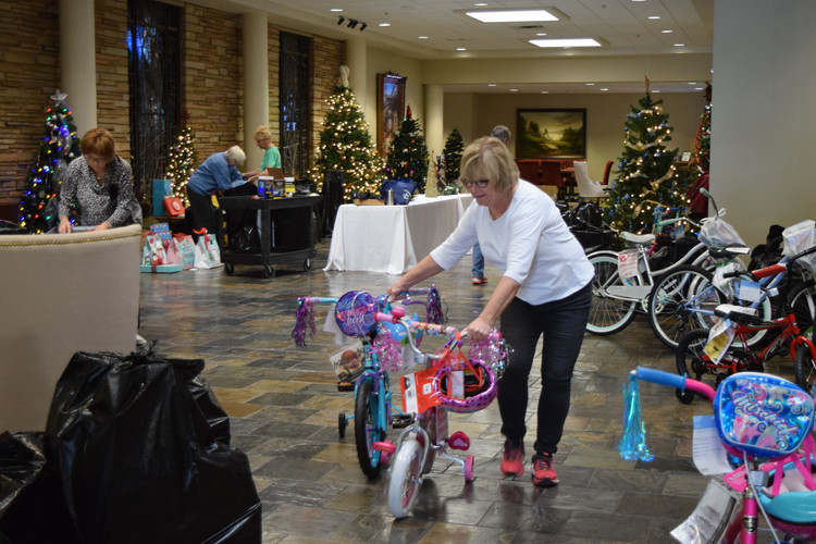 Chapel Hill donated presents for 47 families.