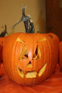 And they came up with some great jack-o-lanterns.