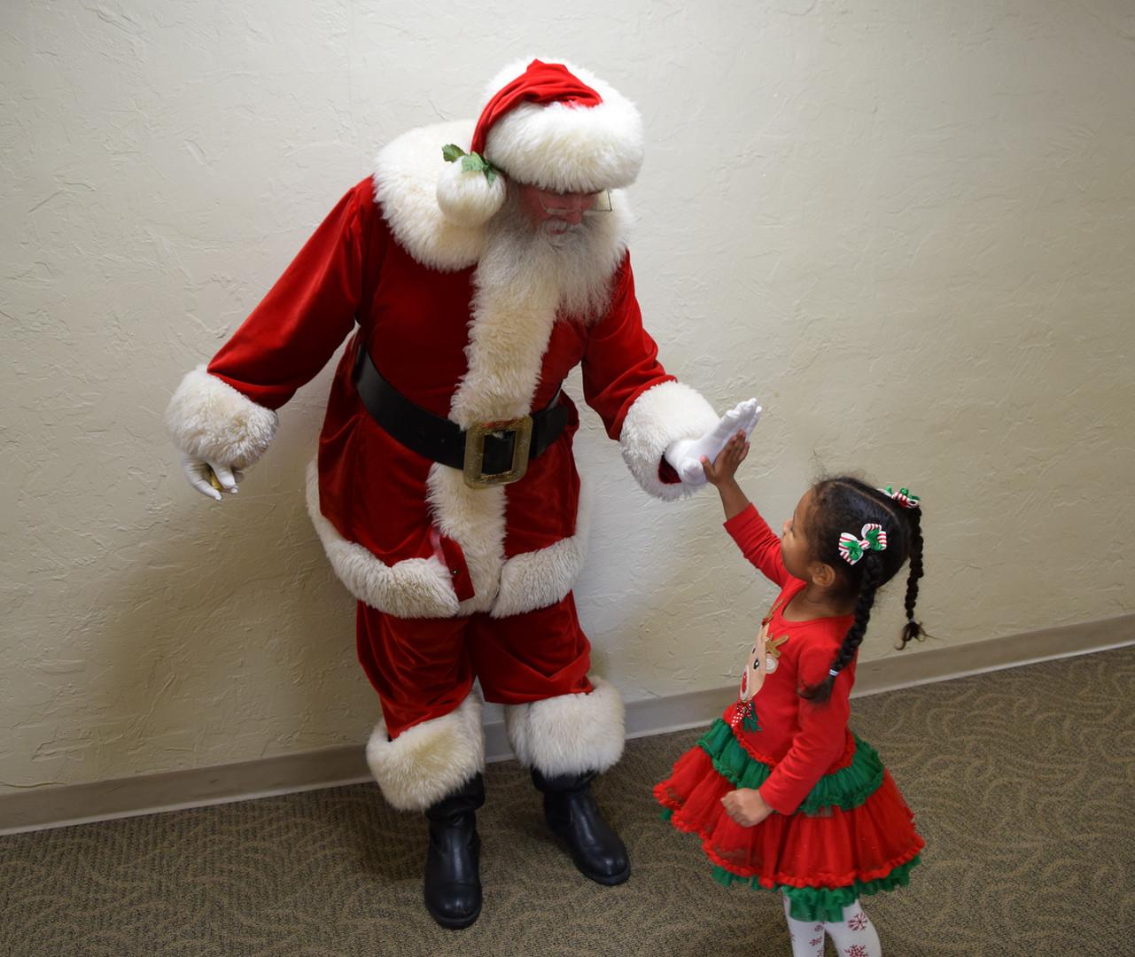 Afterwards everyone got to visit with Santa.