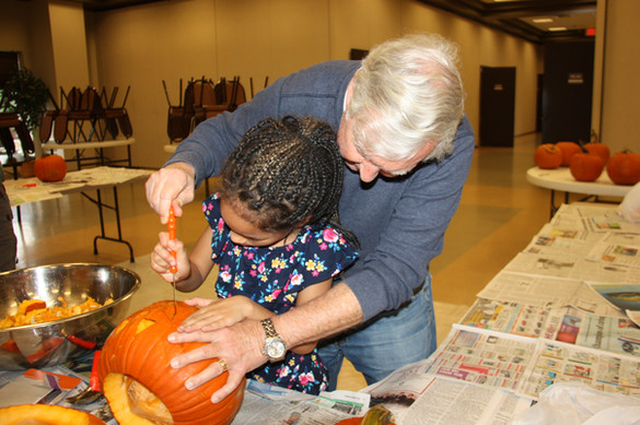 A.C.T.S. 4 Kids had 21 kids who came to carve pumpkins.