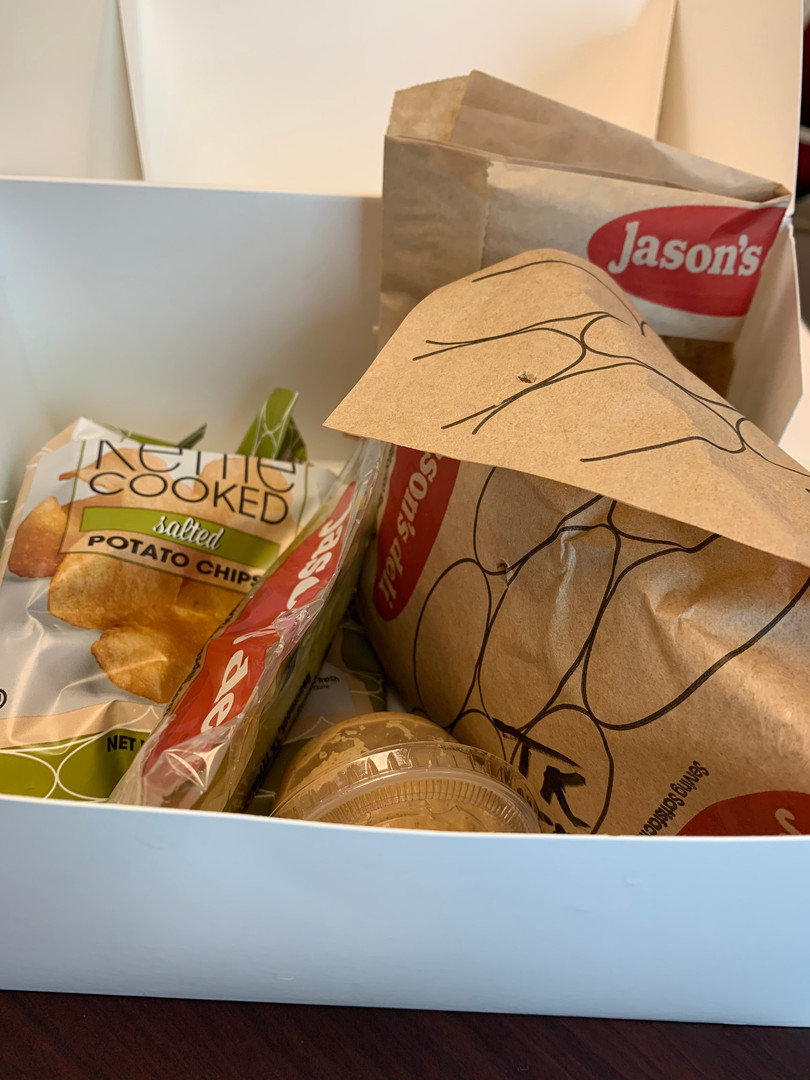 The staff appreciated the UMW's lunch delivery this week!