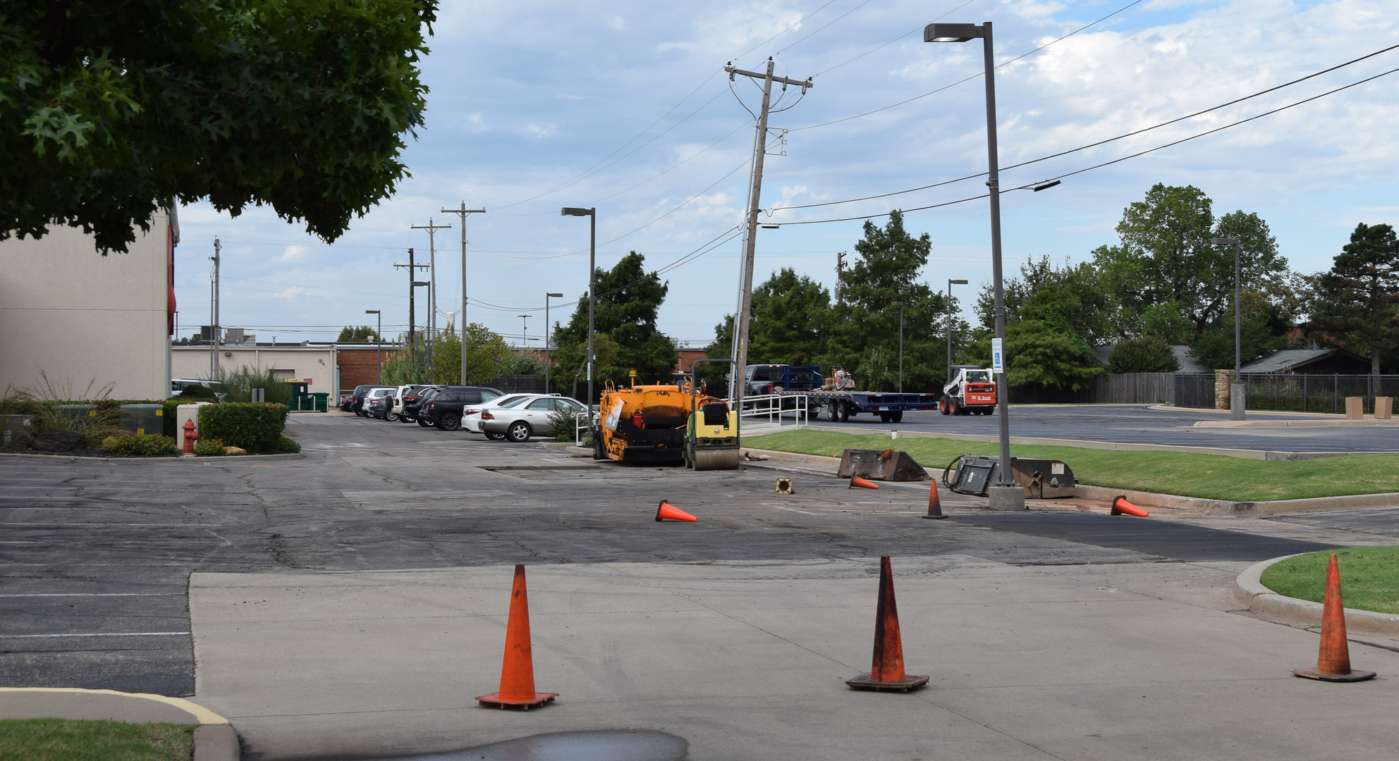 Our north parking lot is being resurfaced.