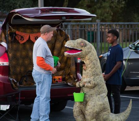 Mark met a dinasaur