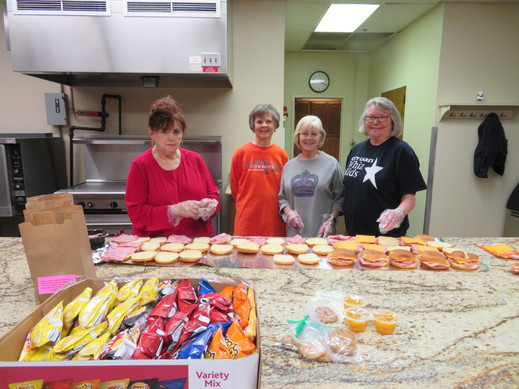 The day after Christmas our Mobile Meals ladies were at it again.