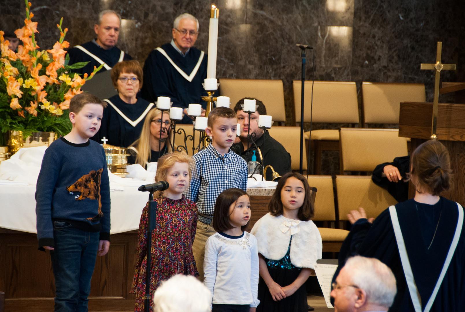 The Rejoice Choir sang beautifully.