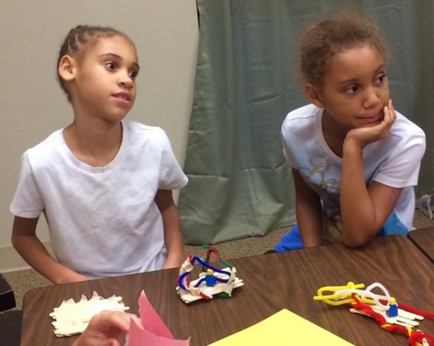 The kids were making stuff.