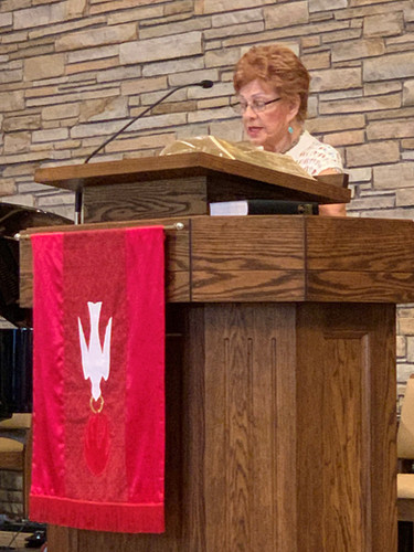 Many of our women participated in the service.