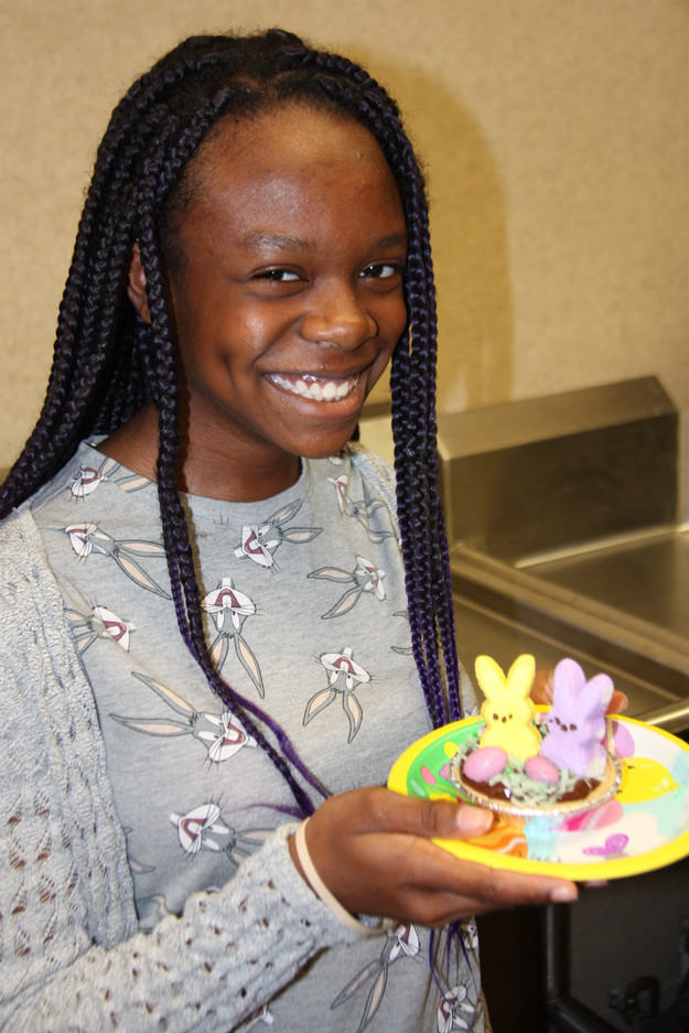 At A.C.T.S.4 Kids everyone got to make a chocolate bunny pie!